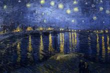 "Репродукция картины ""Starry Night Over the Rhone"" художника ""Ван Гог Винсент"""