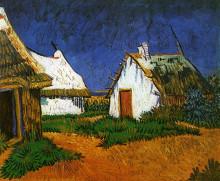 """Картина """"three white cottages in saintes-maries"""" художника """"ван гог винсент"""""""