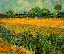 "Репродукция картины ""view of arles with irises in the foreground"" художника ""ван гог винсент"""