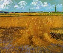 "Репродукция картины ""wheatfield with sheaves"" художника ""ван гог винсент"""