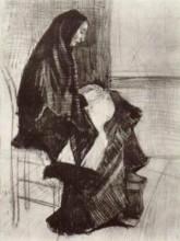 "Репродукция картины ""Figure of a Woman with Unfinished Chair"" художника ""Ван Гог Винсент"""