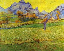 """Картина """"a meadow in the mountains"""" художника """"ван гог винсент"""""""