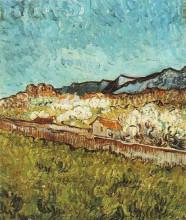 "Репродукция картины ""at the foot of the mountains"" художника ""ван гог винсент"""