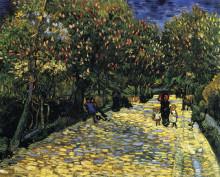 "Репродукция картины ""avenue with flowering chestnut trees at arles"" художника ""ван гог винсент"""