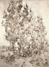 "Картина ""cypresses"" художника ""ван гог винсент"""
