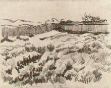 "Копия картины ""enclosed field"" художника ""ван гог винсент"""
