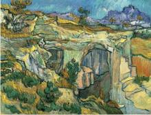 "Картина ""entrance to a quarry near saint remy"" художника ""ван гог винсент"""