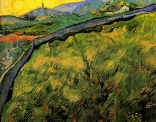 "Копия картины ""field of spring wheat at sunrise"" художника ""ван гог винсент"""