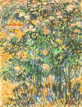 """Репродукция картины """"flowering shrubs"""" художника """"ван гог винсент"""""""