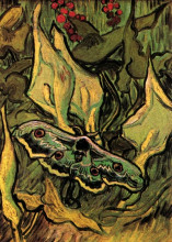 "Копия картины ""great peacock moth"" художника ""ван гог винсент"""