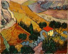 """Картина """"Landscape with House and Ploughman"""" художника """"Ван Гог Винсент"""""""