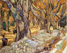 "Репродукция картины ""Large Plane Trees"" художника ""Ван Гог Винсент"""