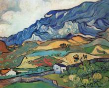 "Копия картины ""les alpilles, mountain landscape near south-reme"" художника ""ван гог винсент"""