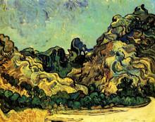 "Картина ""mountains at saint-remy with dark cottage"" художника ""ван гог винсент"""