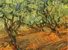 "Копия картины ""olive grove - bright blue sky"" художника ""ван гог винсент"""