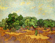"Репродукция картины ""olive grove - pale blue sky"" художника ""ван гог винсент"""