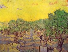 "Картина ""olive grove with picking figures"" художника ""ван гог винсент"""