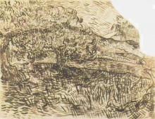 "Копия картины ""olive trees in a mountain landscape"" художника ""ван гог винсент"""