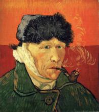 "Картина ""Self-portrait with bandaged ear"" художника ""Ван Гог Винсент"""