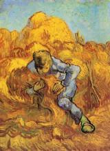 "Картина ""Sheaf-Binder, The after Millet"" художника ""Ван Гог Винсент"""