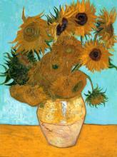 """Репродукция картины """"Still Life - Vase with Twelve Sunflowers"""" художника """"Ван Гог Винсент"""""""