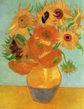 """Репродукция картины """"still life vase with twelve sunflowers"""" художника """"ван гог винсент"""""""