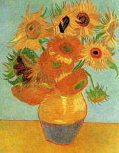 "Картина ""still life vase with twelve sunflowers"" художника ""ван гог винсент"""