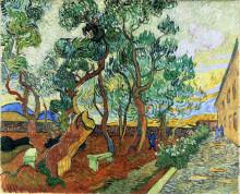 """Репродукция картины """"The Garden of St. Paul's Hospital at St. Remy"""" художника """"Ван Гог Винсент"""""""