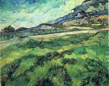 "Копия картины ""the green wheatfield behind the asylum"" художника ""ван гог винсент"""