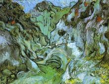 """Картина """"the gully peiroulets"""" художника """"ван гог винсент"""""""