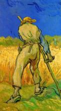 """Копия картины """"the reaper after millet"""" художника """"ван гог винсент"""""""