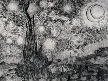 """Копия картины """"the starry night"""" художника """"ван гог винсент"""""""
