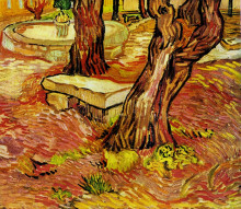 "Репродукция картины ""The Stone Bench in the Garden at Saint-Paul Hospital"" художника ""Ван Гог Винсент"""