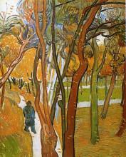 """Репродукция картины """"The Walk - Falling Leaves"""" художника """"Ван Гог Винсент"""""""