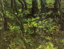 """Картина """"undergrowth with ivy"""" художника """"ван гог винсент"""""""