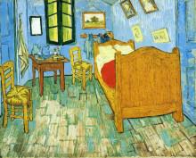 """Репродукция картины """"vincent's bedroom in arles"""" художника """"ван гог винсент"""""""