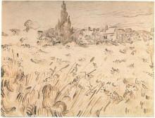 "Копия картины ""Wheat Field with Cypresses"" художника ""Ван Гог Винсент"""