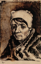 "Копия картины ""head of a woman"" художника ""ван гог винсент"""