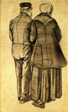 "Репродукция картины ""Man and Woman Seen from the Back"" художника ""Ван Гог Винсент"""