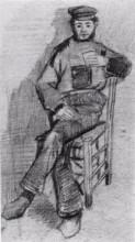 """Копия картины """"Man Sitting with a Glass in His Hand"""" художника """"Ван Гог Винсент"""""""