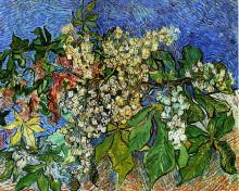 """Репродукция картины """"blossoming chestnut branches"""" художника """"ван гог винсент"""""""