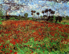 "Репродукция картины ""field with poppies"" художника ""ван гог винсент"""