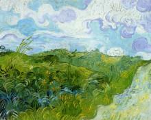 "Репродукция картины ""green wheat fields"" художника ""ван гог винсент"""
