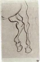 "Копия картины ""hind legs of a horse"" художника ""ван гог винсент"""