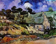 "Картина ""houses with thatched roofs, cordeville"" художника ""ван гог винсент"""