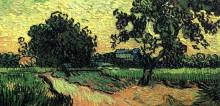 "Картина ""Landscape with the Chateau of Auvers at Sunset"" художника ""Ван Гог Винсент"""