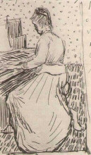 "Репродукция картины ""Marguerite Gachet at the Piano"" художника ""Ван Гог Винсент"""