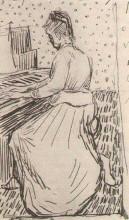"Копия картины ""marguerite gachet at the piano"" художника ""ван гог винсент"""