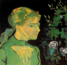 """Картина """"portrait of adeline ravoux"""" художника """"ван гог винсент"""""""