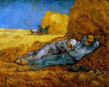 """Копия картины """"rest work (after millet)"""" художника """"ван гог винсент"""""""